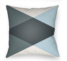 20 Moderne Pillow in Gray & Light Blue
