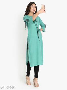 Kurtis & Kurtas Women's Solid Rayon Slub Kurti Fabric: Rayon Slub Sleeves: 3/4 Sleeves Are Included Size:  M - 38 in L - 40 in XL - 42 inXXL - 44 in Length: Up To 46 in Type: Stitched Description: It Has 1 Piece Of Women's Kurti Work: Embroidered & Tassel Work Country of Origin: India Sizes Available: M, L, XL, XXL   Catalog Rating: ★4.1 (485)  Catalog Name: Free Mask Women'S Printed Cotton Kurtis CatalogID_398614 C74-SC1001 Code: 193-6400908-279