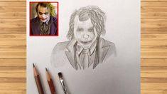 joker drawings easy drawing dark face knight draw beginners