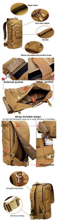 Tactical Military Trekking Backpack Rucksack Shoulder Bag For Camping Hiking - US$35.99