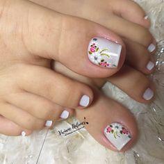 Pretty Toe Nails, Pretty Toes, Feet Nails, Nail Art, Designed Nails, Pretty Nails, Stickers, Vestidos, Simple Toe Nails