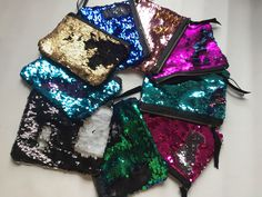 7b1726044 Details about Flip Sequin Make Up Bag. Reversible Mermaid Sequin Pouch Two  Tone Sequins Clutch · Mermaid FabricMermaid ...