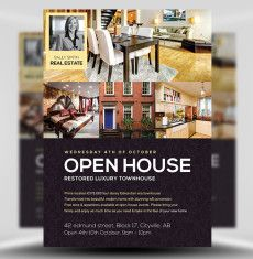 Open House Promotion Flyer V1 by Satgur Design Studio on Creative