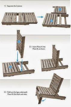 Best DIY Ideas: DIY Make a chair by pallet