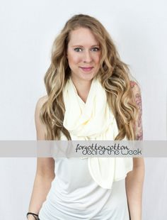 Spring Scarf Ivory Cream Off White Infinity by ForgottenCotton, $18.00  accessories summer women's