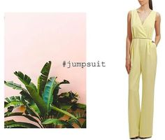 The JUMPSUIT /  A one-step outfit that will fit any occasion. At Maison Raquette #romper #yellowjumpsuit #classyromper #moleculef #maisonraquette #ootd