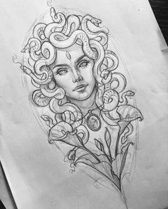 Medusa from Amanda can find Tattoo sketches and more on our website.Medusa from Amanda Arm Tattoo, Body Art Tattoos, Feather Tattoos, Compass Tattoo, Neck Tattoos, Mermaid Tattoos, Tattoo Art, Tattos, Tattoo Stencils