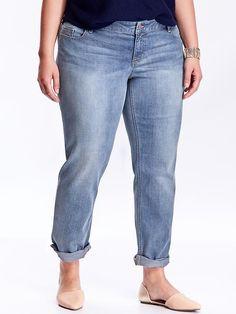 Women's Plus Boyfriend Skinny Ankle Jeans Product Image