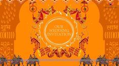 Miss Audio Video Indian Wedding Invitation Cards, Wedding Invitation Video, Wedding Invitation Card Design, Green Wedding Invitations, Indian Wedding Invitations, Save The Date Invitations, Printable Wedding Invitations, Digital Invitations, Wedding Cards