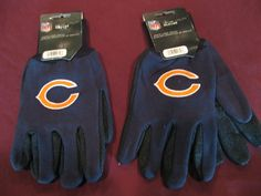 TWO (2) PAIRS OF CHICAGO BEARS, ALL PURPOSE SPORT UTILITY GLOVES #ChicagoBears