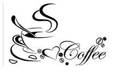 Wandtattoo Kaffee Tasse Coffee Spruch Herz Mokka Wandaufkleber Küche Café Deko M - Coffee Cup Cafe, Coffee Love, Coffee Art, Coffee Cups, Removable Wall Stickers, Wall Stickers Murals, Vinyl Wall Art, Wall Decal, Vinyl Decals