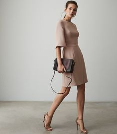 Shop our stylish contemporary womenswear ran Fashion Photo, High Fashion, Trendy Fashion, Reiss Dresses, Wrap Front Dress, Iconic Dresses, Street Style Trends, Lace Tops, Dress Collection