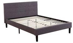 Deluxe Tufted Platform Bed Frame w/ Wooden Slat Wooden Bed Frames, Wooden Slats, Platform Bed Frame, Upholstered Platform Bed, Bed Frame Hardware, Bed Frame Parts, Simple Bed Frame, Bed Frame Design, Bed Frame And Headboard