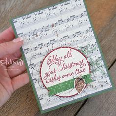 #ChristmasInJuly with the #Stampinup #artisandesignteam. #stampindolce #stampinupcanada #christmascard www.stampindolce.com