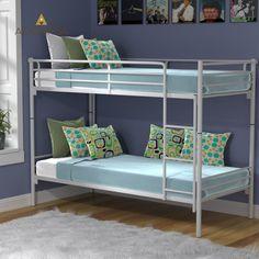 BUNKBED Κουκέτα Μεταλλική Γκρι Με Σκάλα και Βάση Στρωμάτων 205x93x150. Εξαιρετικής Ποιότητας. Στιβαρή Κατασκευή. Δέχεται Στρώματα 84x198 (Τα στρώματα δεν περιλαμβάνονται).  Από την Alphab2b.gr Bunk Beds, Kids Room, Furniture, Home Decor, Products, Room Kids, Decoration Home, Loft Beds, Room Decor