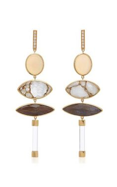 Opal and Sapphire Earrings by Sorellina Fall Winter 2018