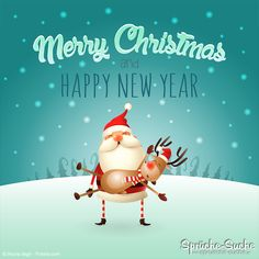 Merry Christmas and Happy New Year Card with Santa Claus and Reindeer ➔ Here are some nice sayings for Christmas and Christmas!sprueche-seeking … Source by spruechesuche Related posts: Christmas Cards – Christmas Card Set – Merry Christmas & Happy Merry Christmas Wishes, Merry Christmas And Happy New Year, Christmas Love, Christmas Greetings, Christmas Cards, Xmas, Christmas Ornaments, Happy New Year Cards, Happy New Year 2018