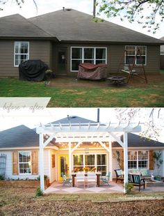 How to transform your patio space! It looks SO much better in the bottom pic!