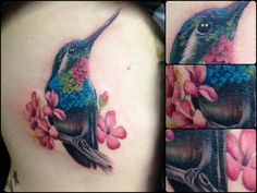 Realistic Hummingbird Tattoos   hummingbird tattoo up the ribs- painful area for those who don't know ...