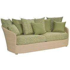 Whitecraft Oasis S507031, Outdoor Wicker Cushion Three Seat Sofa by WhiteCraft. $2119.99. Sturdy aluminum frames with powder coat finish. UV protected and cannot be damaged by rain, sun or salt water. Environmentally friendly, non-toxic and 100% recyclable. 100% HDPE resin wicker will not crack, peel, or chip with UV inhibitors. Over 100 different cushion colors available for your selection. Whitecraft Oasis S507031, Outdoor Wicker Cushion Three Seat Sofa