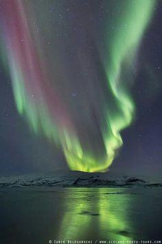 Otra aurora boreal en iceland