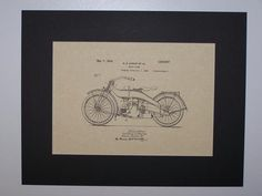 Harley Motor Cycle 1924 Patent Drawing Motorcycle Harley Davidson