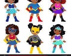 Supergirls Girl Superhero Clip Art / Supergirls by Alefclipart