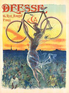 """""""Deesse Bicycles,"""" by Jean de Paleologue (""""PAL"""")(c1898)"""