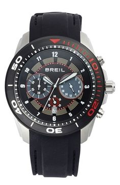 Breil 'Edge' Chronograph Silicone Strap Watch, 47mm | Nordstrom