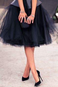 Navy Tulle, full skirt.: || Rita and Phill specializes in custom skirts. Follow Rita and Phill for more tulle skirt images.