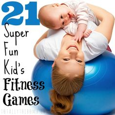 I love playing with my kids, but it& can be a lot of sit-and-play and not active up-and-play, so, I& gathered these 21 Super-Fun Kid& Fitness Games! Indoor Activities For Kids, Gross Motor Activities, Learning Activities, Physical Activities, Yoga For Kids, Exercise For Kids, Toddler Exercise, Kids Workout, Fitness Games For Kids