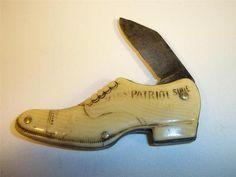 RARE STAR BRAND PATRIOT SHOE KNIFE BAKELITE