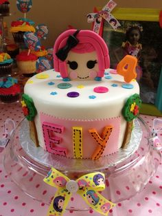 Cake at a Lalaloopsy Party #lalaloopsy #partycake