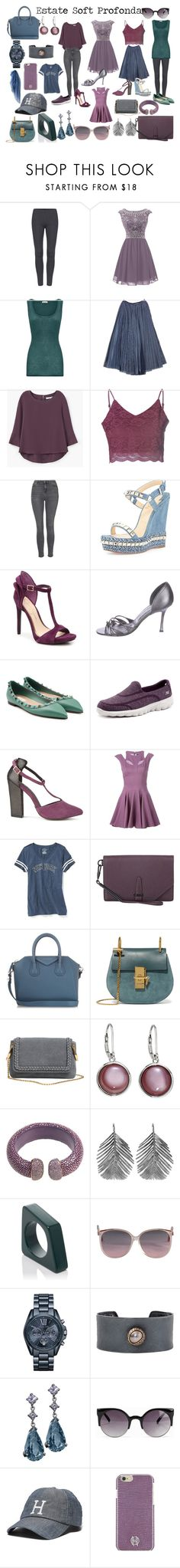 """Estate Soft Profonda in primavera"" by laralabiche ❤ liked on Polyvore featuring American Vintage, Chanel, MANGO, Glamorous, Topshop, Christian Louboutin, Manolo Blahnik, Valentino, Skechers and Ravel"