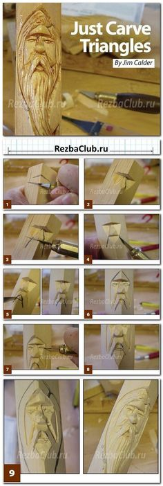 Best Wood Carving Patterns Dremel Woodcarving 37 Ideas - Décoration et Bricolage Simple Wood Carving, Wood Carving Faces, Dremel Wood Carving, Wood Carving Designs, Wood Carving Patterns, Wood Carving Art, Wood Art, Wood Wood, Whittling Projects