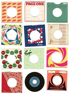 45s sleeves - they were always colourful and fun.  Half the time you lost them.
