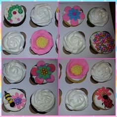 Spring or summer fondant cupcakes