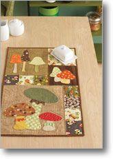 mushroom mini quilt pattern