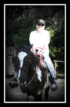 Cathy and Oreo at Gettysburg 6 14 2014  I just loved Oreo.