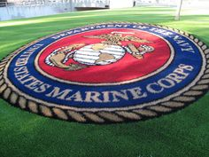 Check out this custom logo we did for the United States Marine Corps. www.easyturf.com l outdoor living l logos l artificial turf l fake grass l business