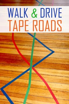 All you need is tape and floor-space for this easy activity! Let your child try to balance, walk, and drive his Hot Wheels cars on these zig-zag colored tape roads as a fun playtime activity!