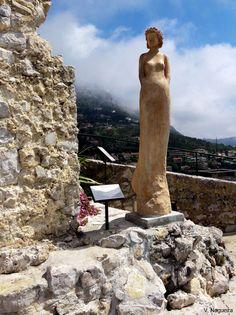 Botanic garden Jardin Exotique, Eze village, Alpes Maritimes ...