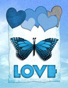 Valentine, Butterfly, Love, Heart