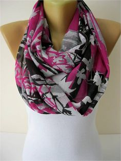 NEW Infinity Scarf Shawl Circle Scarf Loop Scarf by MebaDesign, $13.90