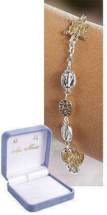 7.5 Inches Long, Ghirelli, 9 Mm Silver Gold, Miraculous Rosary Bracelet by Ghirelli, http://www.amazon.com/dp/B007NGEQ0E/ref=cm_sw_r_pi_dp_nP0Dpb1NTQZRD