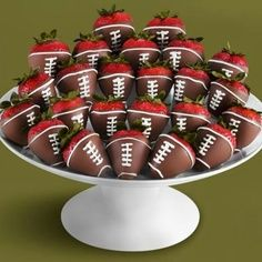 Superbowl Chocolate Covered Strawberries