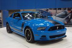 Grabber Blue 2013 Mustang Boss 302