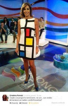 """Cristina Parodi """"Buongiorno Benessere"""" -Rai 1- in SS 2014 Mariagiulia Dress"""