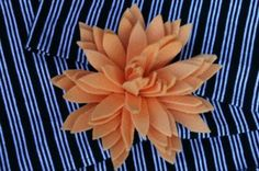 flower made out of a dollar store Sham-wow!