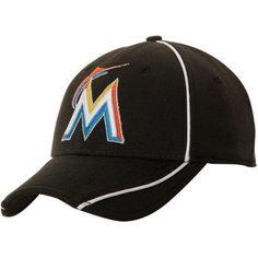 New Era Miami Marlins Youth Batting Practice Performance Flex Hat - Black 319d00d3b4ae